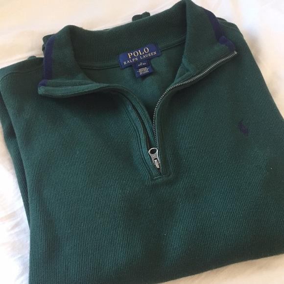 68400651 Polo Ralph Lauren green quarter zip
